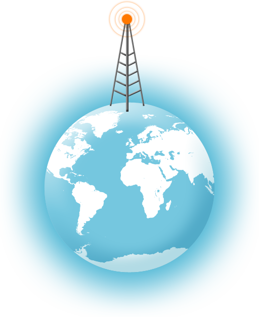 Image: Telecommunication - Globe and radio tower